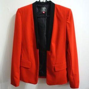 Vince Camuto collarless tuxedo blazer size 2